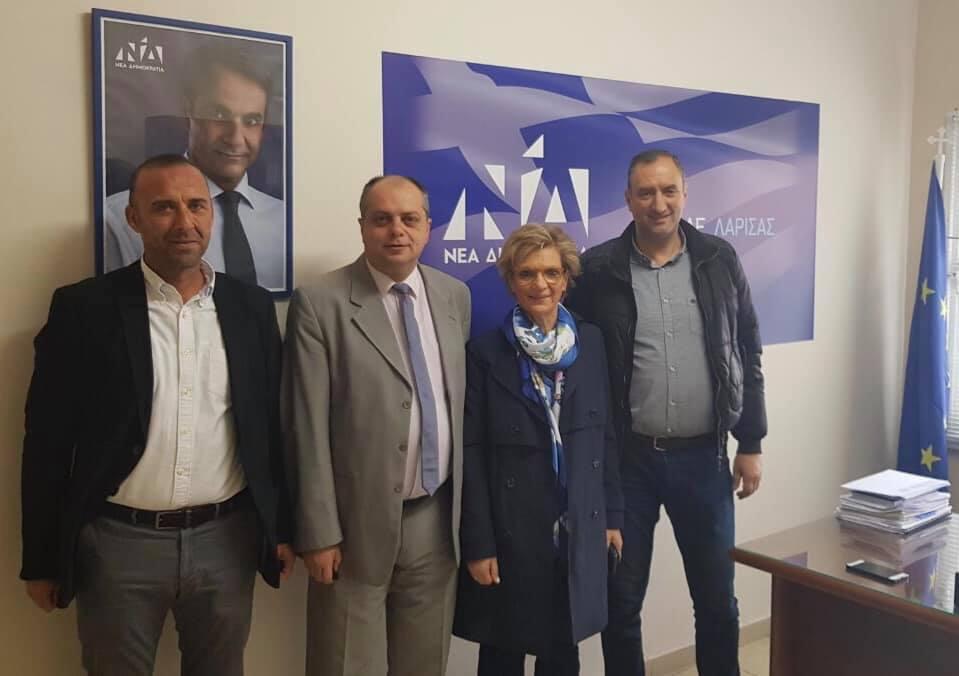 Επίσκεψη Μαίρης Τριανταφυλλοπούλου στη Λάρισα